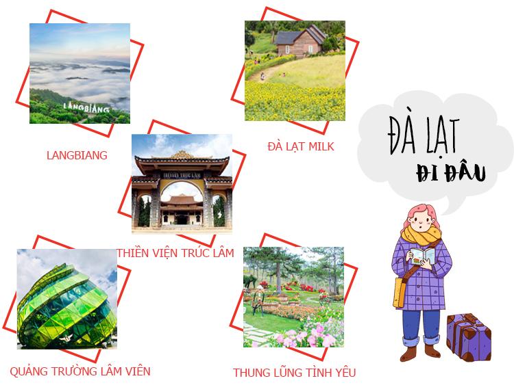 Những điểm du lịch nổi tiếng Đà Lạt