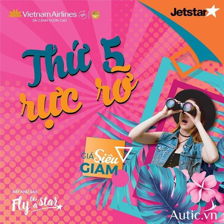 Chương trình khuyến mại Thứ 5 rực rỡ của Vietnam Airlines